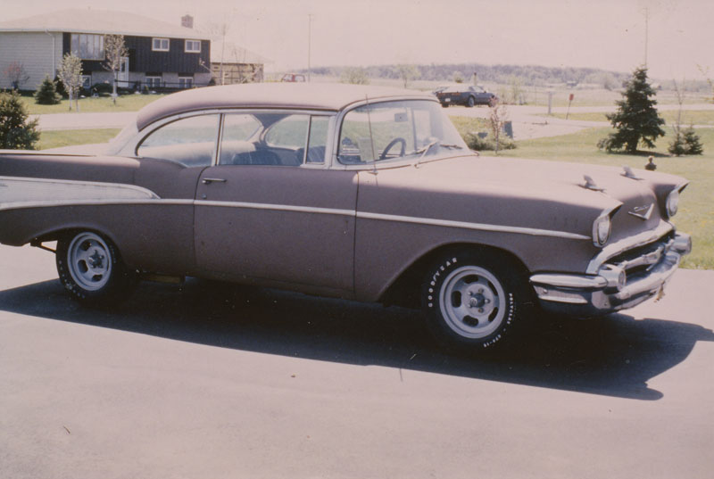 Vintage Shots of my Dad's old 1957 Chevy Sport Coupe