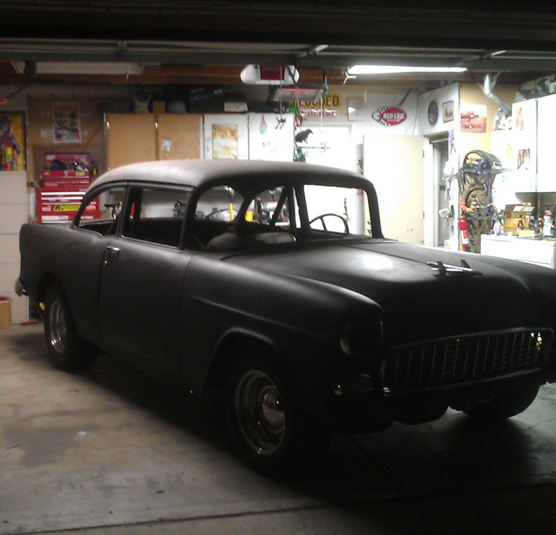 Drunken Garage Burnout – Kyle's 1955 Chevy