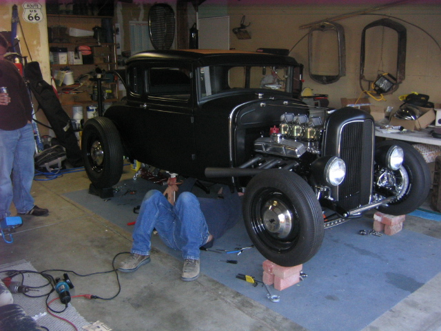 Mike's 1930 Model A Coupe; Moving Right Along!!
