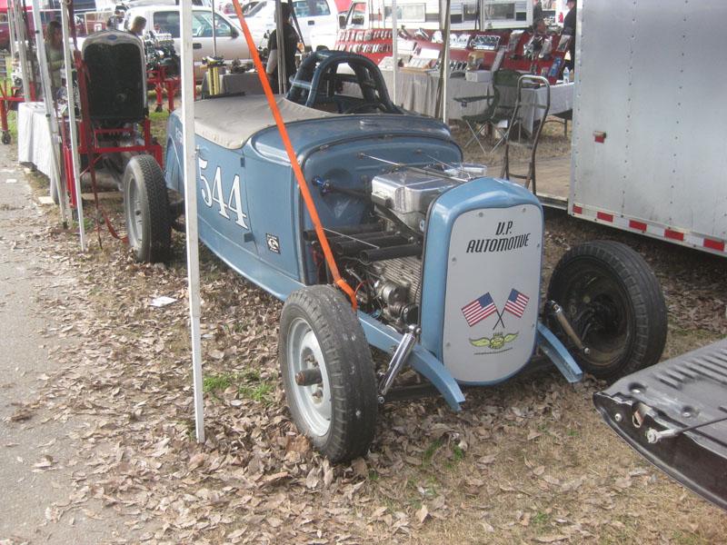 Bad ass Vortec blown 4 banger Model A roadster salt flat racer Turlock Swapmeet Modesto Model As