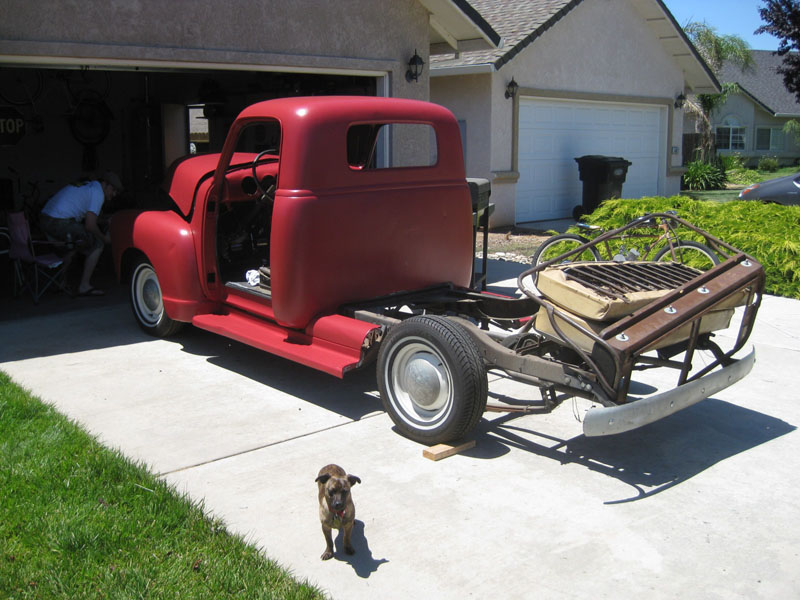 Jeremy's 1951 Chevy Truck goes Red!
