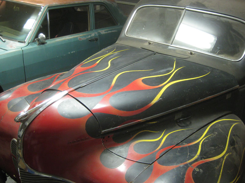Original Hood to the 1940 Dodge finds it's Home!