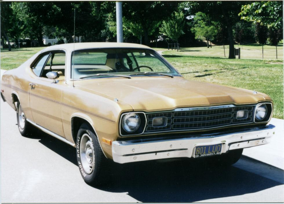 1974 Plymouth Gold Duster – My second car – Photos from the Past!